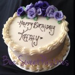 flowery birthday cake